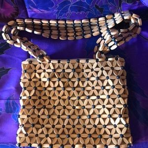 Wooden vintage purse
